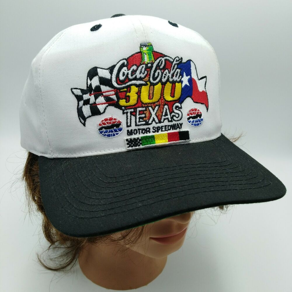 7907dfc6cea66 Details about Vintage Coca-Cola 300 Texas Motor Speedway Racing Snapback  Hat Cap New