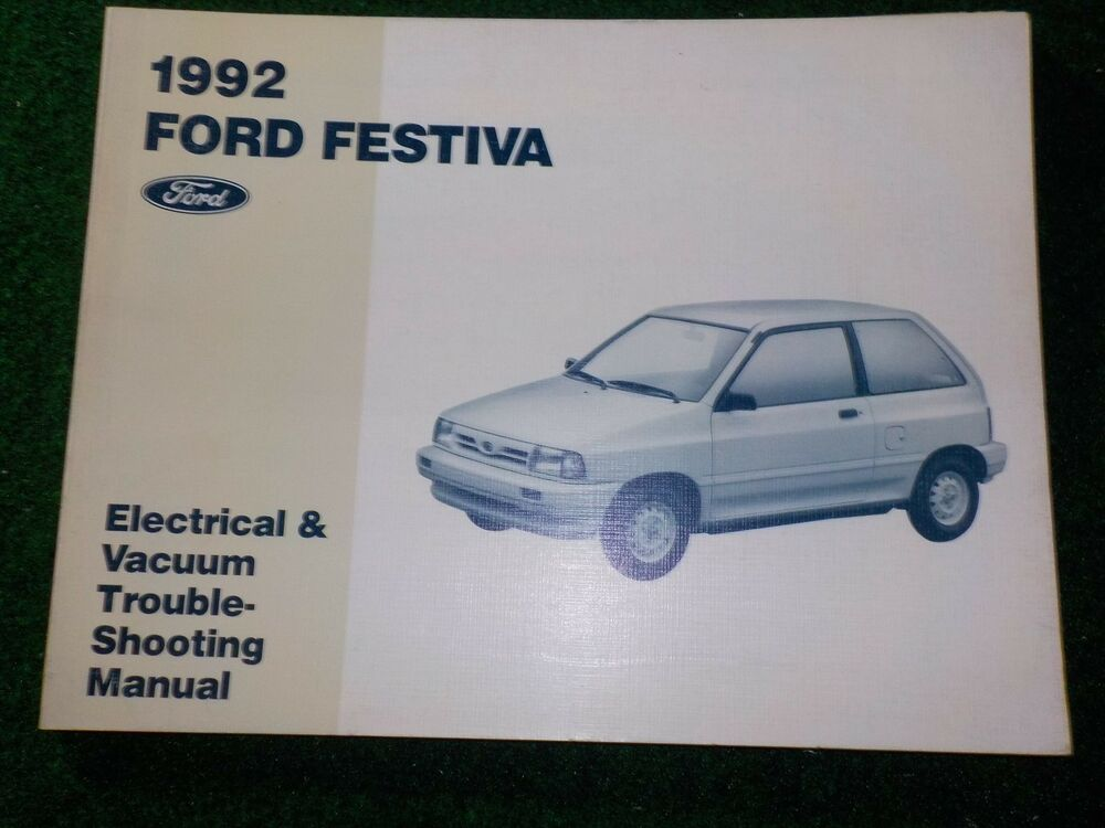 1992 Ford Festiva Electrical Wiring Diagram Manual Dealer Factory