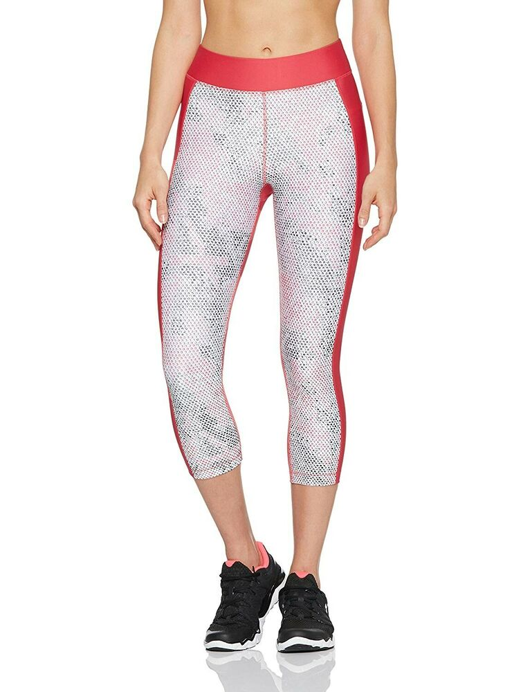 0d261157dc55d3 Details about Under Armour Ladies HeatGear Compression Capri Gym Running  Tights BNWT UK XXL