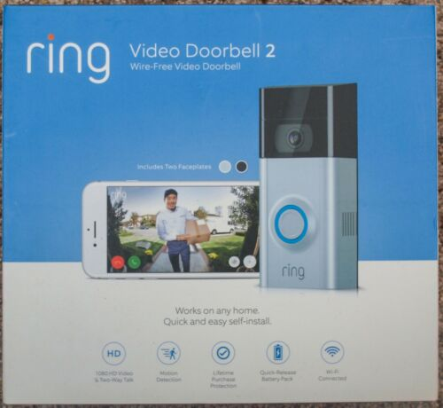 **NEW + NO TAX + FREE SHIPPING** Ring Video Doorbell 2
