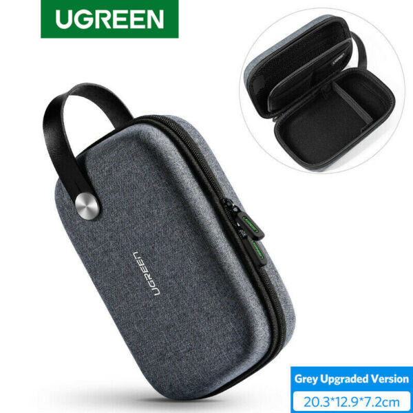 Ugreen Travel Case Electronics Accessories Organiser Hard Case Storage Box Pouch
