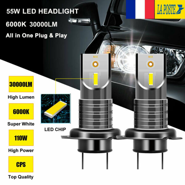 110W 20000LM H7 CREE LED 5050 puce ultra brilliant phare lampe Kit ampoule 6000K