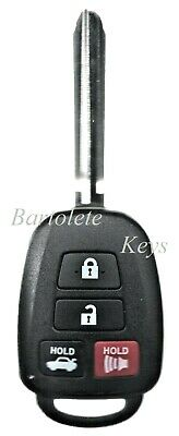Replacement Remote Keyless Entry Transponder Key Fob For Toyota Corolla Camry