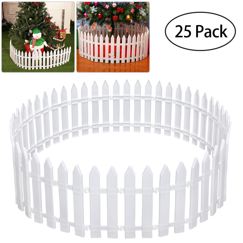 25Pcs/Set Picket Fence Garden Fencing Lawn Edging Home ...