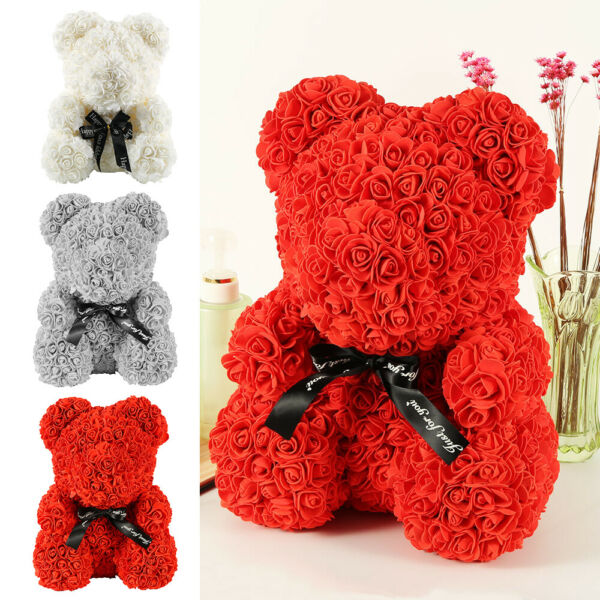 40cm Ours en Rose eternelle Ours Box Amour Teddy Bear Birthday mariage Valentin