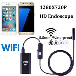 Kyпить For iPhone Android iOS PC 5.5MM WiFi Borescope Endoscope Snake Inspection Camera на еВаy.соm