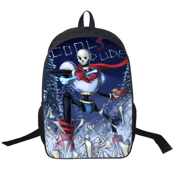 Game Undertale Papyrus Skeleton Backpack Packsack knapsack Travelbag School Bag