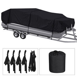 Kyпить Pontoon Boat Cover Waterproof Heavy Duty Fit 17ft to 24ft Long & Beam up to 102