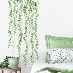 STRING OF PEARLS HANGING VINES & Leaves 2 large Wall Decals Home Decor Stickers