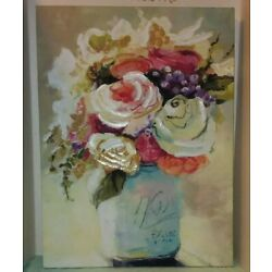 Flowers Canvas Painting 18'' X 24'' Distributed by Portfolio Arts Group decor