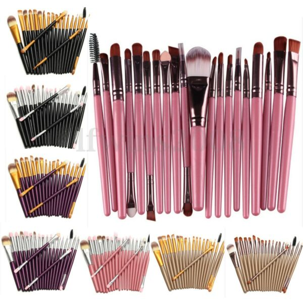 Kit 20Pcs Professionnel Pinceaux Brosse à Maquillage Makeup Brush Set