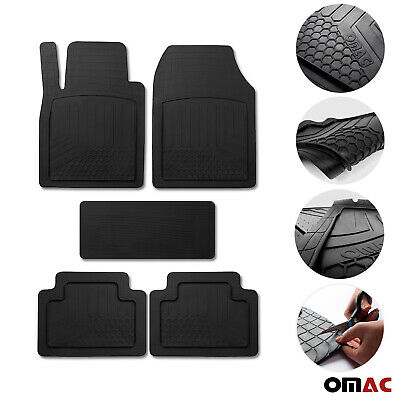 Car Floor Mats for BMW All Weather Semi Custom Black Trimmable Fits 5 Pcs.