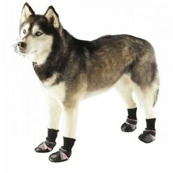Guardian Gear Oxford Dog Boots Pet Shoes Water Repellent Pink Reflective NEW