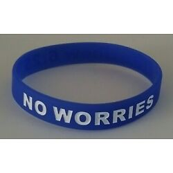 NO WORRIES Inspirational Debossed Silicone Wristband New Conditon