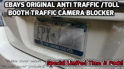 🔥🔥✌🏻2 PACK✌🏻🔥🔥 ANTI TRAFFIC🚦CAMERA 📸 LICENSE PLATE COVER🔥NO MORE 🚔🚔!!