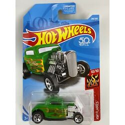32 Ford #246 Green HW Flames 2018 Hot Wheels Case L - SHIPS OUT FAST