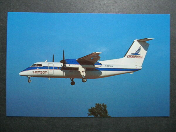 6613 Aviation Postcard  Henson Airlines DeHavilland DHC-8102 Dash 8 N921HA