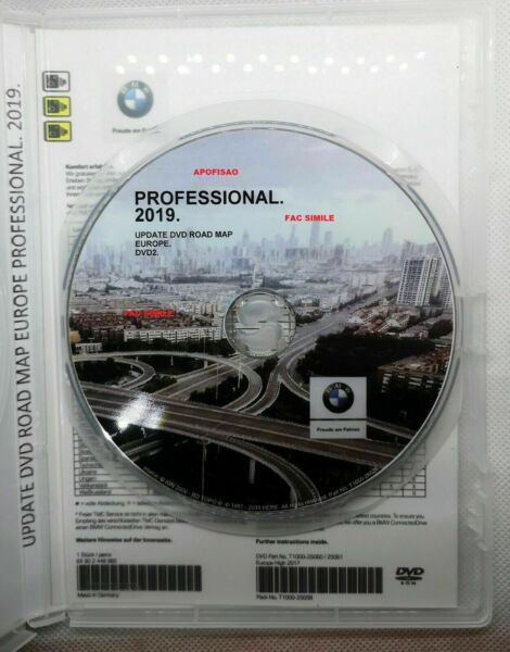 BMW NAVIGATION PROFESSIONAL 2019 - DVD 2 Road Map Central Europe  + Autovelox