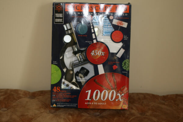 Young Scientist Microscope Lab 1000x 48 Piece In Original Box
