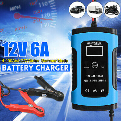 6A Car Battery Charger Maintainer Auto 12V Trickle RV for Truck Motorcycle ATV