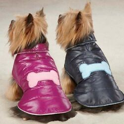 CLOSEOUT PRICES Dog Winter Coat Jacket Snow Puff Vest Pink Raspberry Blue Navy
