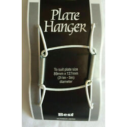 NEW 5 SPRING PLATE WALL HANGERS HOLDER SIZE 8 - 10 inch No. 2
