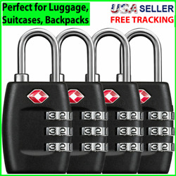 Kyпить 4x TSA Lock Travel Luggage Suitcase 3 Digit Combination Reset Padlock Approved на еВаy.соm