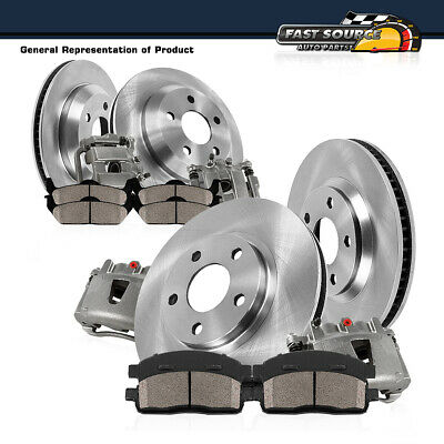 For 2003 - 2005 Dodge Ram 1500 Front And Rear Brake Calipers Rotors Ceramic Pads