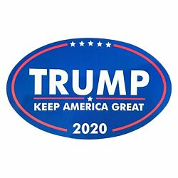 Kyпить TRUMP 2020 Keep  American Great Bumper Stickers Oval Decals Blue 2
