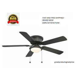 Kyпить Harbor Breeze Armitage 52-in Bronze LED Indoor Flush Mount Ceiling Fan with Kit на еВаy.соm