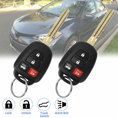 2pcs Replacement Key Fob for Toyota Camry Corolla 2014-2016 Keyless Entry Remote