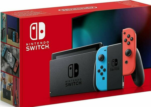 Nintendo Switch Neon Red/Blue with Improved Battery 32GB + 1 GAME BUNDLE