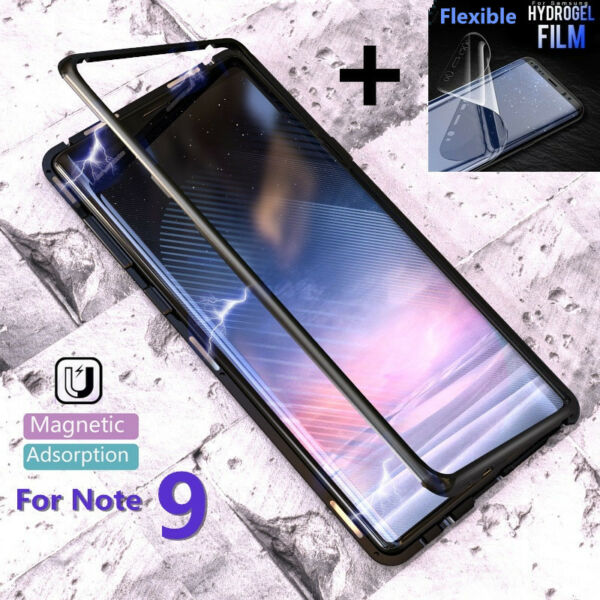AllemagneFür Samsung Galaxy Note 9 Magnetic  Aluminium Metal Case Glass Cover