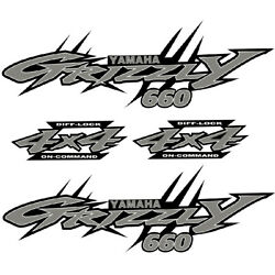 Yamaha Grizzly 660 4x4 Special Edition  OEM ATV Tank Decal Sticker kit