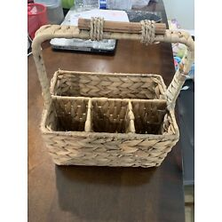 Seagrass Woven Baskets with Handles