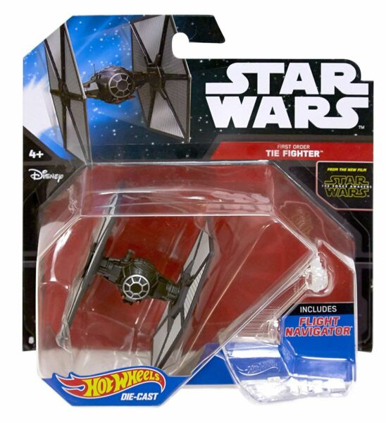 Royaume-UniStar Wars Hot Wheels Moulé - Force Awakens Premier Ordre Tie Fighter - DJJ61