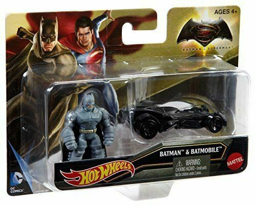 Royaume-UniHot Wheels Batman V Superman: Dawn De Justice Blindé Mini Figurines & Batmobile
