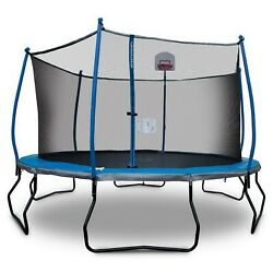 Kyпить Round 14' Trampoline with Basketball Goal & Safety Enclosure Bounce Pro на еВаy.соm