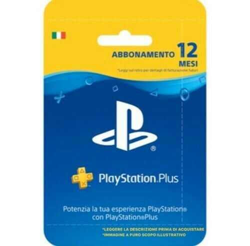 PLAYSTATION PLUS Abbonamento 12 Mesi 365 GIORNI PSN PS4