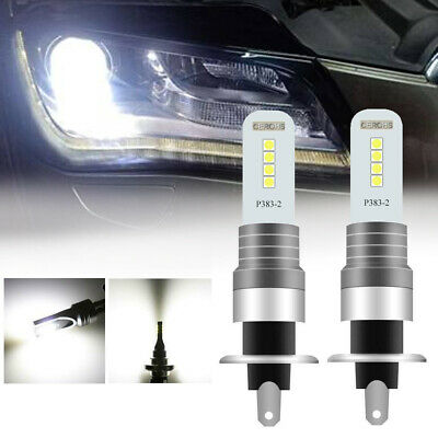 2x H1 CREE 8LED Fog Driving Light Bulbs Conversion Kit Super Bright 6000K White