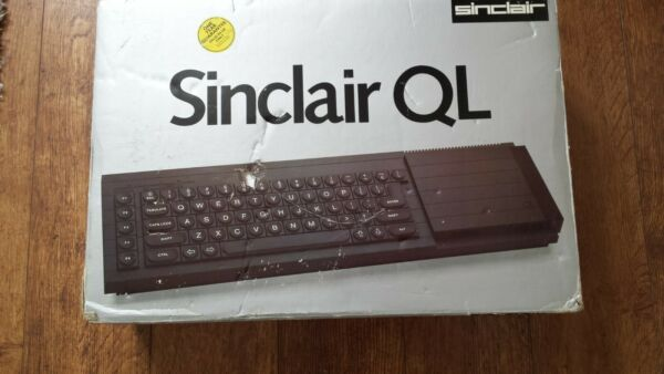 vintage sinclair QL in box