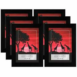 Kyпить Americanflat Black Picture Frame- 6 Pack- Available in 4x6, 5x7, 8x10 на еВаy.соm