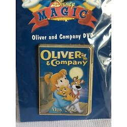 Disney 12 Months of Magic DVD Case Oliver and Company Pin NEW OOC