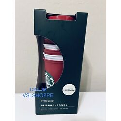Kyпить Starbucks - Reusable Hot Cups - 6 Pack - 2020 Holiday Color Changing Candy Cane на еВаy.соm