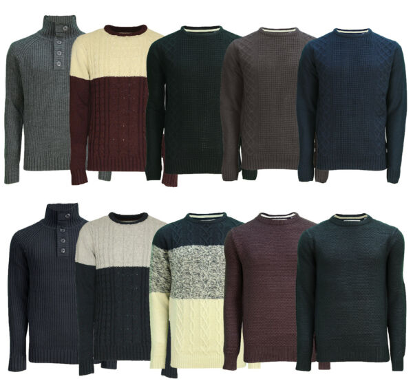 Royaume-UniSoul Star Homme Tricot Col Rond Pulls Mode Hiver Pull Tricoté Chandails