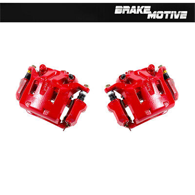Front Red Brake Disc Calipers Pair Set For INFINITI G35 RWD AWD NISSAN 350Z