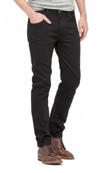 Royaume-UniLee Rider Hommes Standard Taille Conique Slim Jambe Extensible Jean Noir Rinçage
