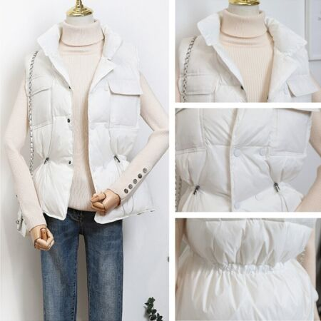 img-Women Duck Down Waistcoat Puffer Vest Padded Quilted Jacket Coat Sleeveless