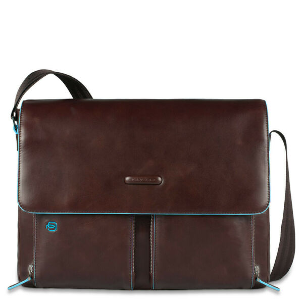 ItalieMan  Piquadro Blue Square CA3337B2/MO in brown leather ipad briefcase
