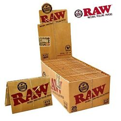 RAW Classic Natural 1.5 1 1/2 Rolling Papers 25 Packs  FULL BOX - FREE SHIP